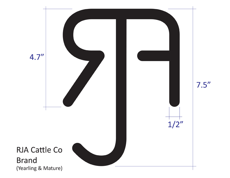 RJA Cattle Company Brand Large