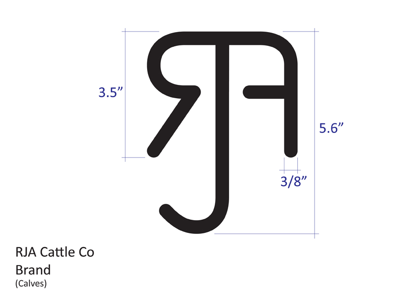 RJA Cattle Company Brand Small
